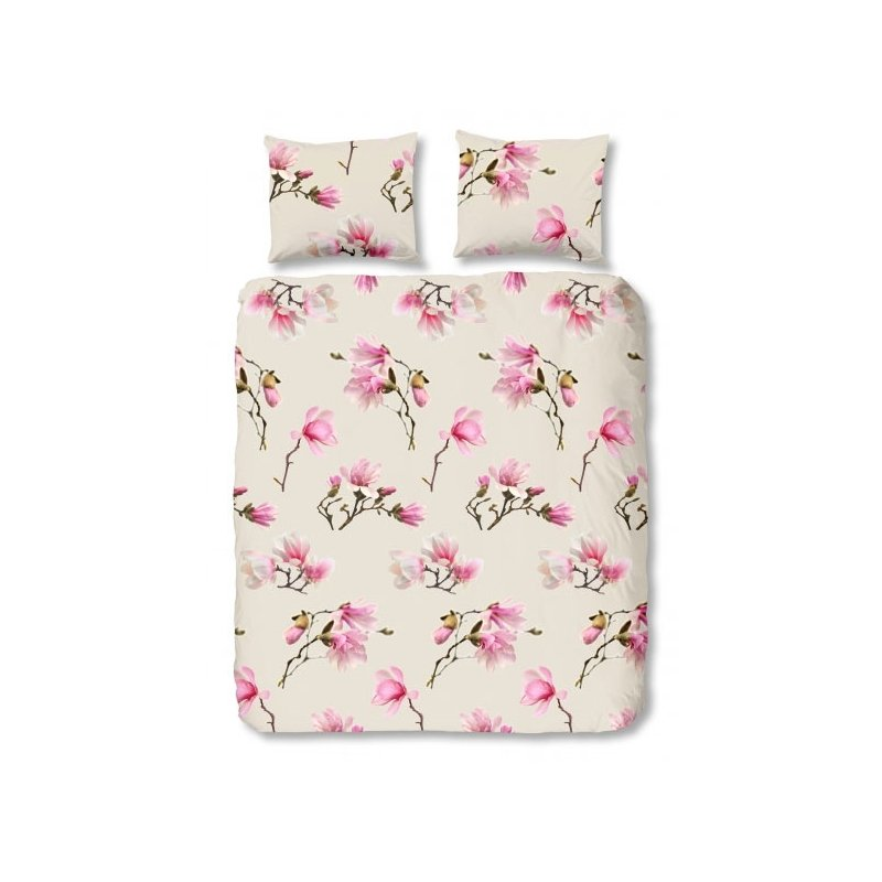 housse de couette fleurs magnolia 240x220. Black Bedroom Furniture Sets. Home Design Ideas