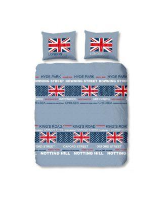 Parure de lit London Blue 240x220 cm