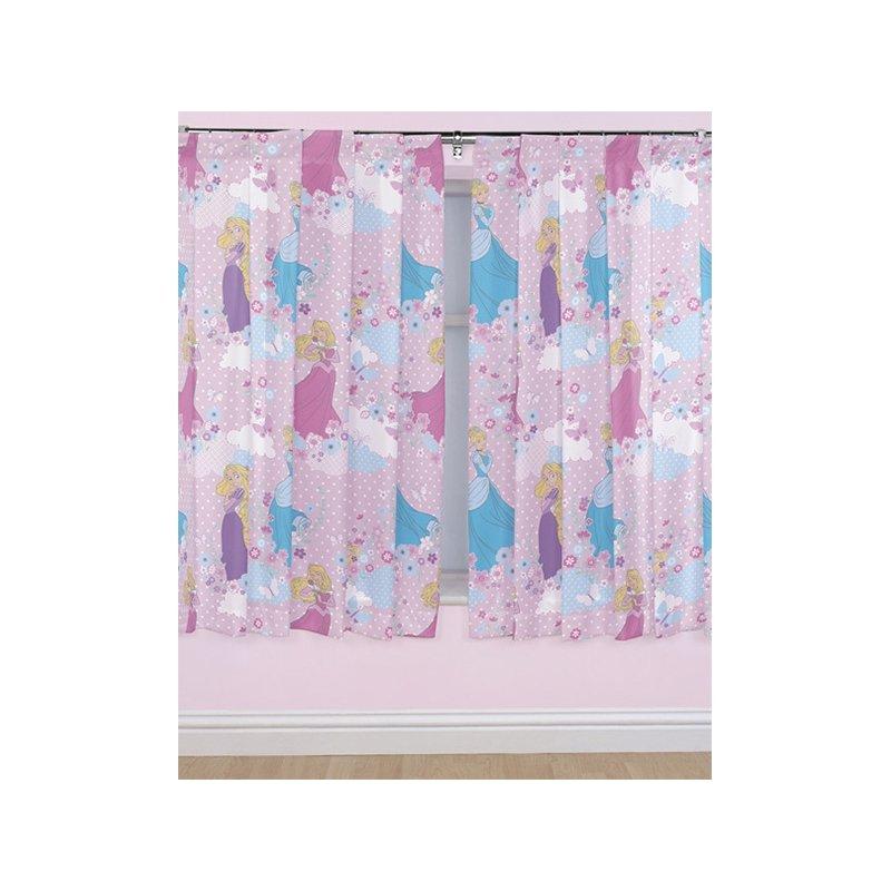 rideau princesse disney tenture pour fenêtre chambre rose