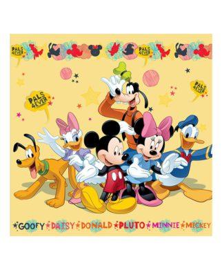 Coussin imprimé Mickey Mouse Friends 40x40 cm