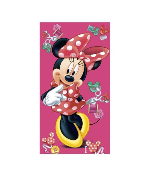 Serviette de bain Minnie Mouse Buttons 75x150 cm