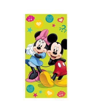 Serviette de bain Mickey et Minnie Green 75x150 cm