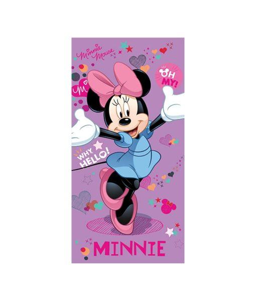 Serviette de bain Minnie Mouse Purple 75x150 cm