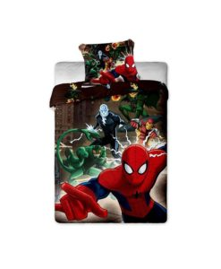 spiderman parure de lit housse de couette enfant rideaux d coration linge de maison. Black Bedroom Furniture Sets. Home Design Ideas