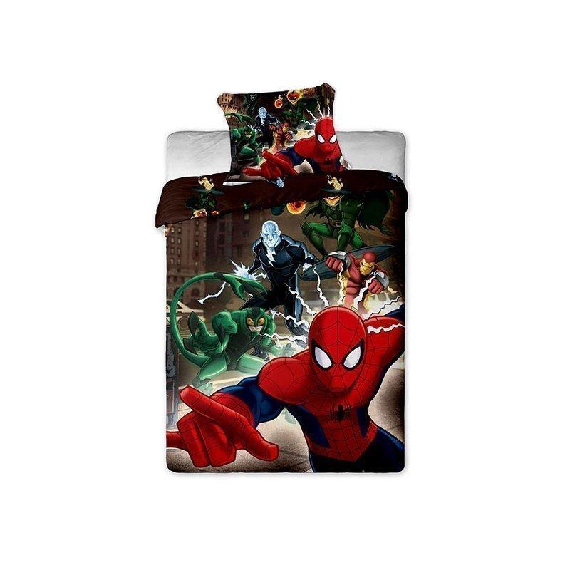 draps de lit spiderman avec ennemis pour enfant. Black Bedroom Furniture Sets. Home Design Ideas