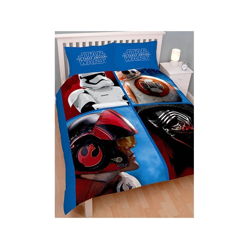 star wars housse de couette pour lit double 2 personnes. Black Bedroom Furniture Sets. Home Design Ideas