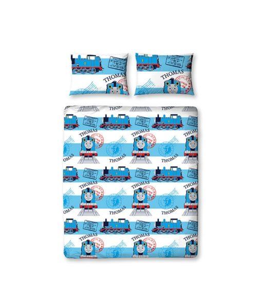 parure de lit double Thomas le train Adventure 200x200 cm