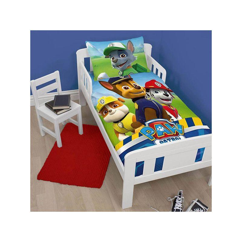 parure de lit pat patrouille junior pour lit volutif. Black Bedroom Furniture Sets. Home Design Ideas