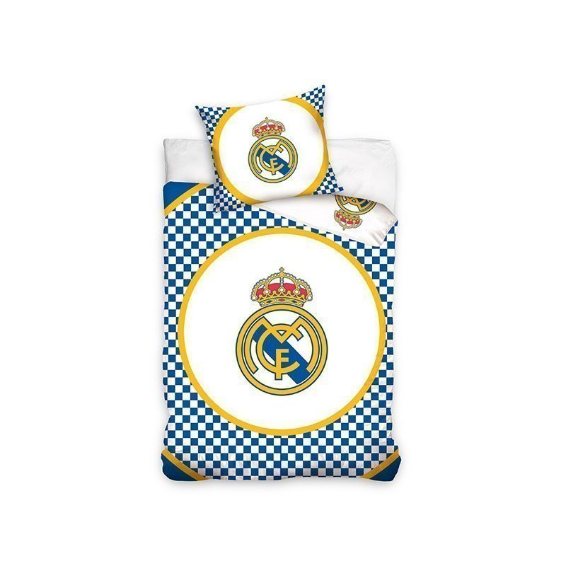Housse de couette real madrid ronaldo blanc et bleu for Decoration murale juventus