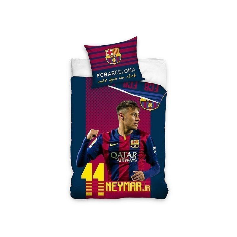 Housse de couette neymar pour enfant linge de lit football - Housse de couette barcelone ...