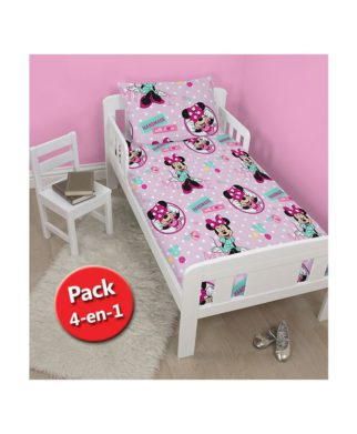 "Pack Minnie ""Handmade"" - Couette + Oreiller + Parure de lit junior"