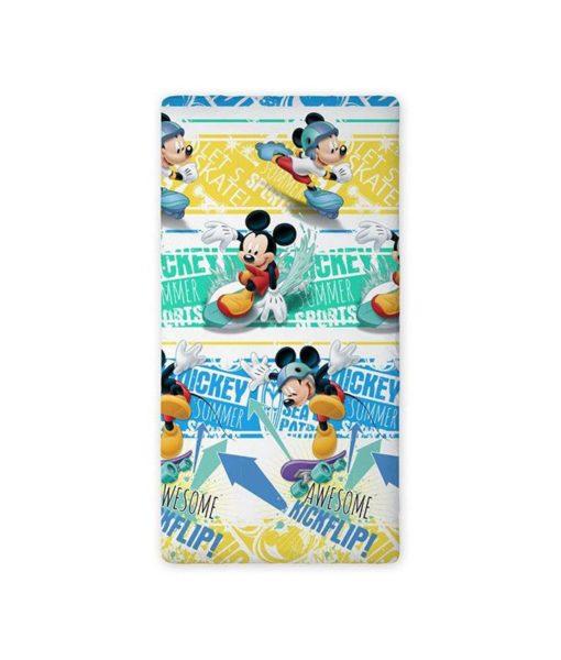 "Drap-housse Mickey Mouse ""Summer"" 90x200 cm"