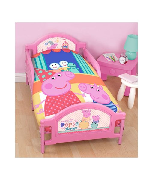 Parure de lit Junior Peppa Pig Funfair 120x150 cm