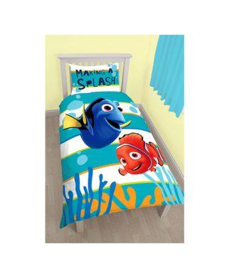 Parure de lit réversible Nemo & Dory - Housse de couette + taie