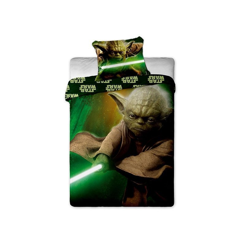 housse de couette yoda star wars jedi 100 coton. Black Bedroom Furniture Sets. Home Design Ideas