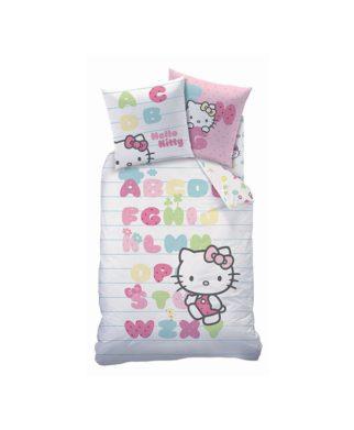 """Parure de lit Hello Kitty """"Abécédaire"""" 140x200 cm"""