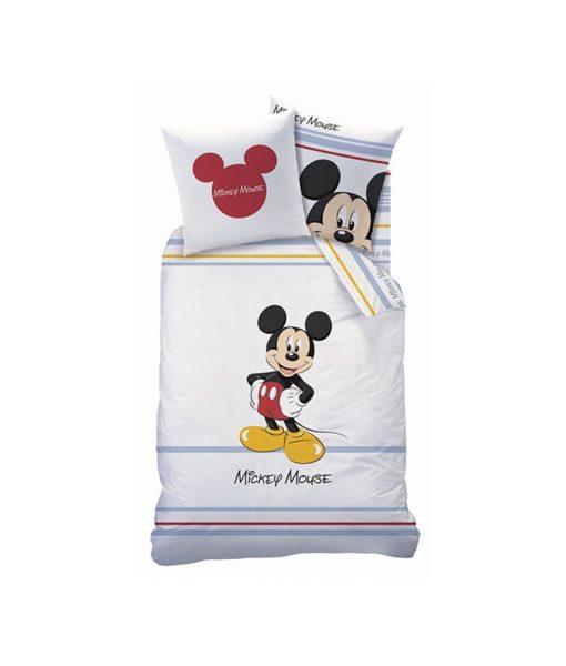 Parure de lit Mickey Mouse - Housse de couette + taie