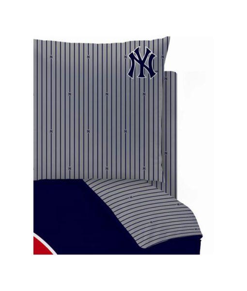 Drap-housse New York Yankees pour lit 2 personnes