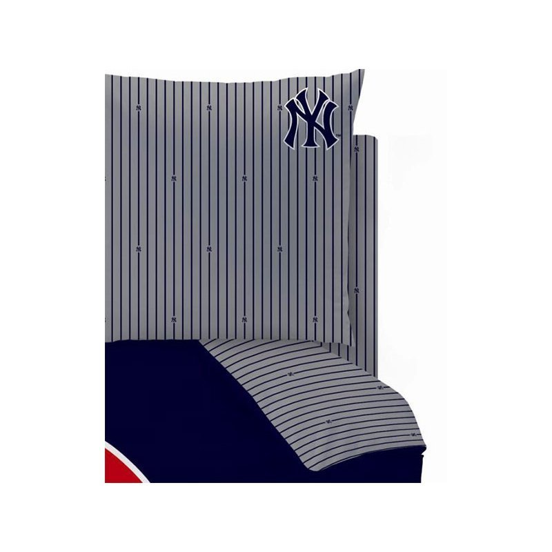 drap housse new york yankees pour 2 personnes. Black Bedroom Furniture Sets. Home Design Ideas