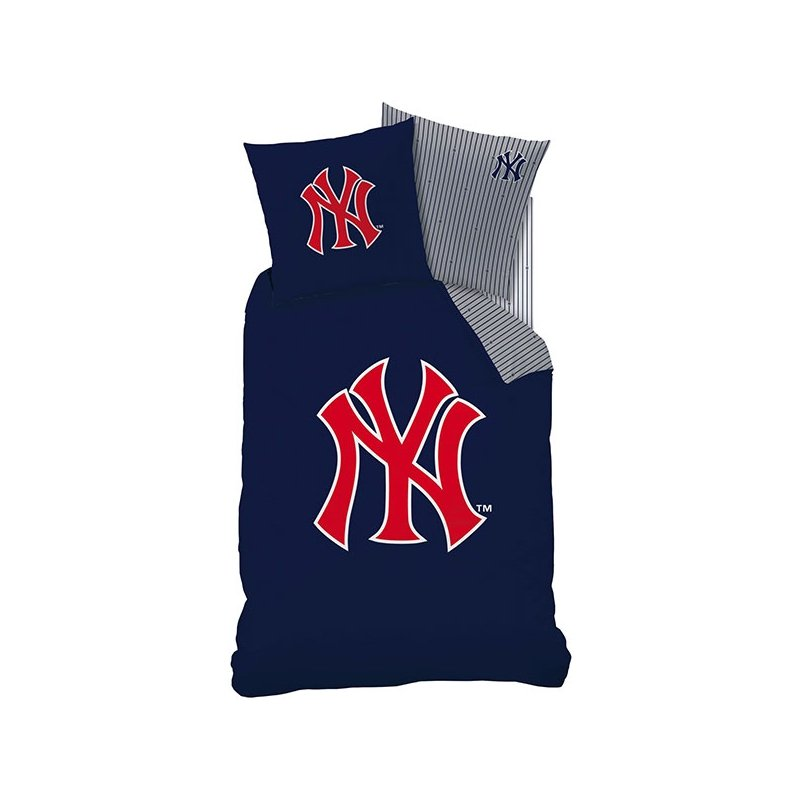 housse de couette new york yankees logo pour lit personne. Black Bedroom Furniture Sets. Home Design Ideas