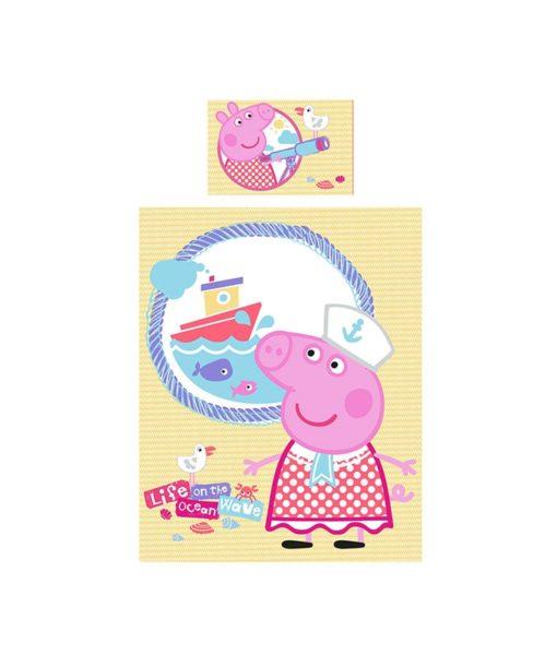 housse de couette Junior Peppa Pig Nautical 120x150 cm