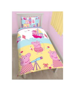 Housse de couette + taie Peppa Pig Nautical