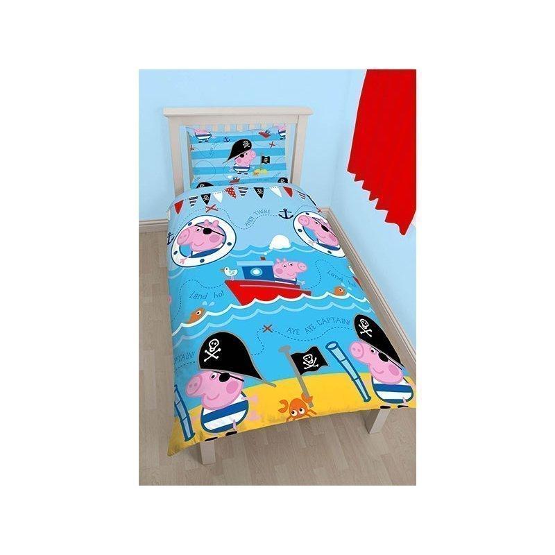 housse de couette enfant peppa george lit simple. Black Bedroom Furniture Sets. Home Design Ideas