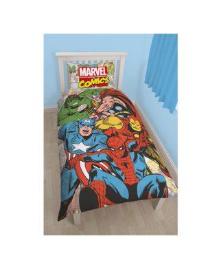Parure de lit Marvel Comics Justice pour 1 personne