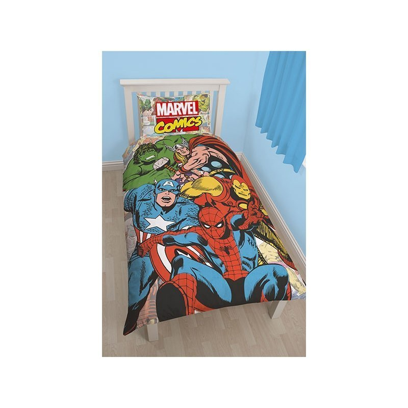 parure de couette marvel comics pour chambre enfant. Black Bedroom Furniture Sets. Home Design Ideas