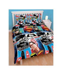 Parure de lit Batman vs Superman pour lit double