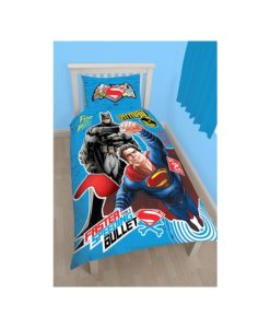 Parure de lit Batman vs Superman Clash pour lit simple