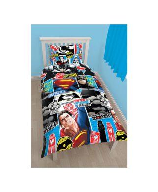 Parure de lit Batman vs Superman pour lit simple