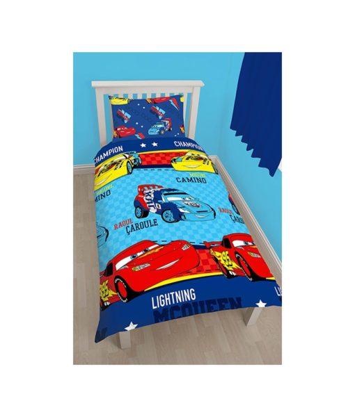 Parure de lit Cars Piston pour lit simple