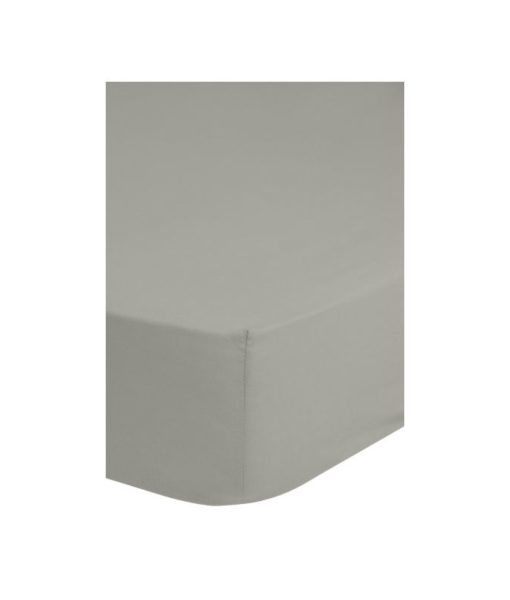 Drap-housse gris léger 90x 200 - 100% coton