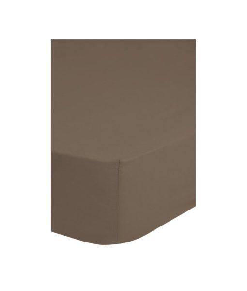 Drap-housse taupe 90x 200 - 100% coton