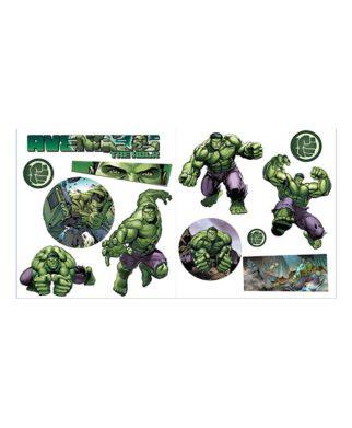 12 Stickers muraux Hulk - Avengers