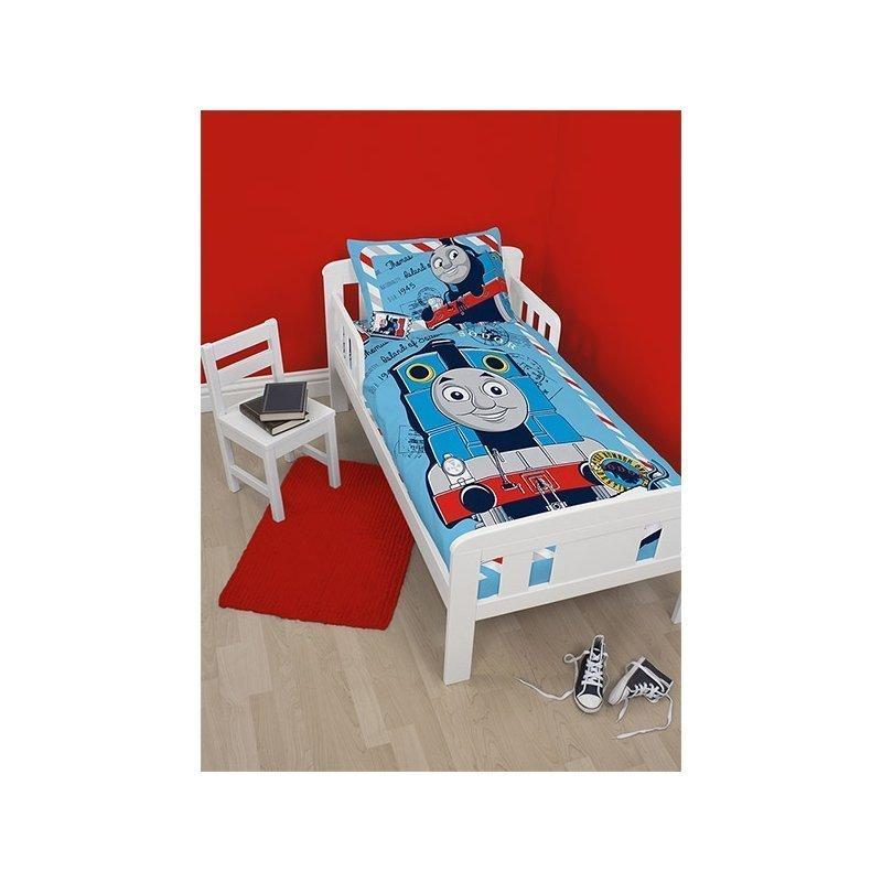 housse de couette thomas le train pour lit junior ou volutif. Black Bedroom Furniture Sets. Home Design Ideas