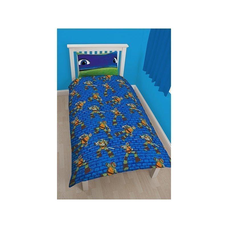 parure de couette tortues ninja pour chambre enfant. Black Bedroom Furniture Sets. Home Design Ideas