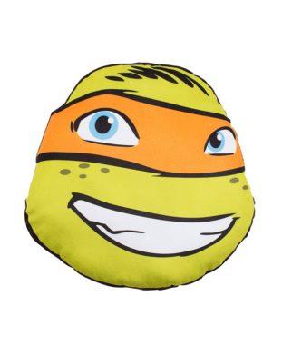 Coussin Tortues Ninja tout doux en forme de tête