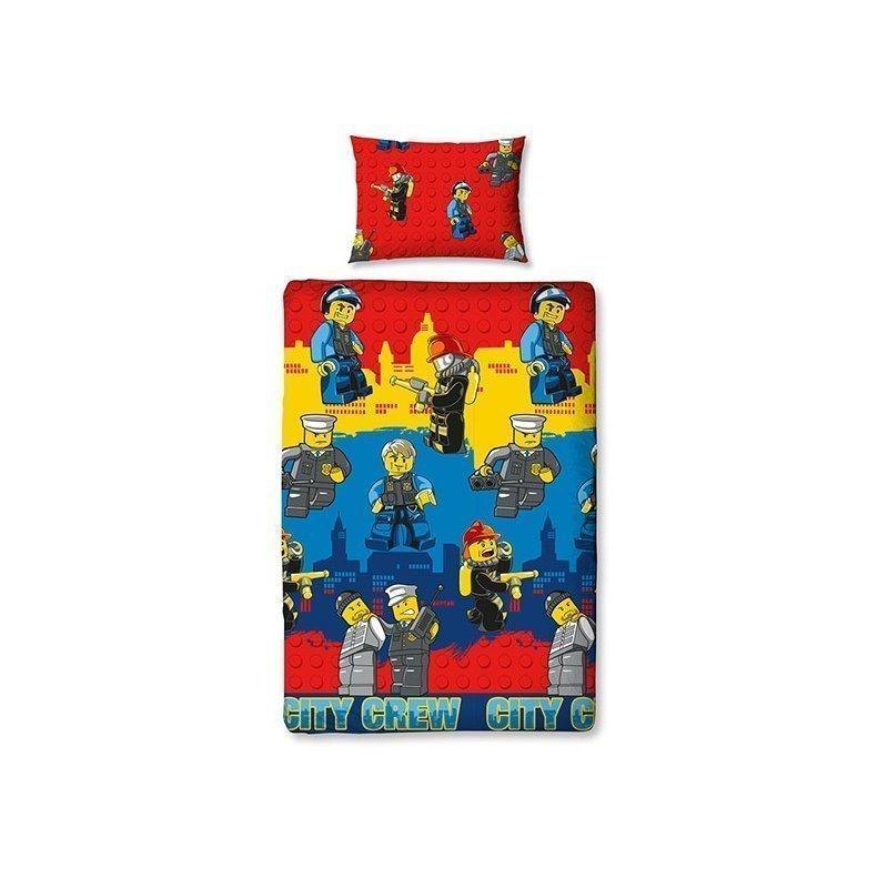 Housse de couette lego city pompier police pour chambre - Housse de couette pompier ...