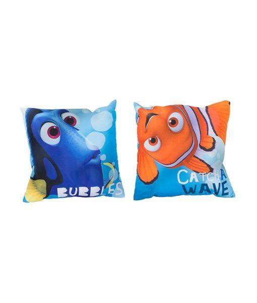 Coussin imprimé et réversible Nemo & Dory