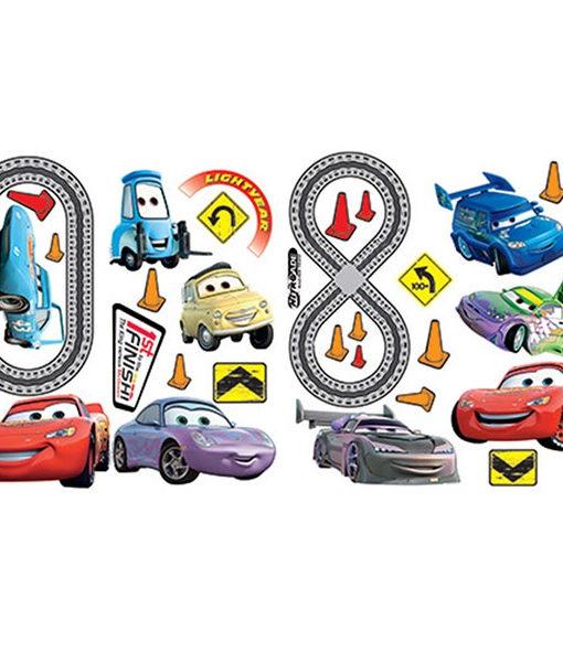 2 planches de stickers Disney Cars 30x40 cm