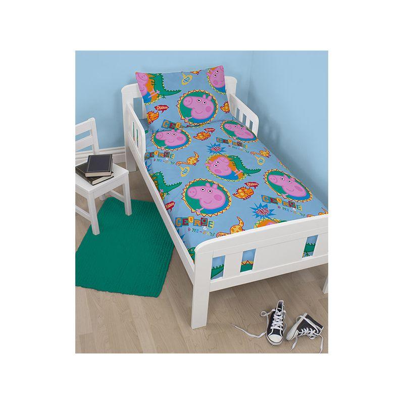 parure de lit peppa george pour petit lit junior 120x150 cm. Black Bedroom Furniture Sets. Home Design Ideas