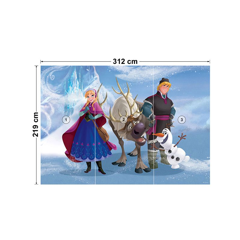 Papier peint reine des neiges pour mur chambre fille disney - Frise reine des neiges ...