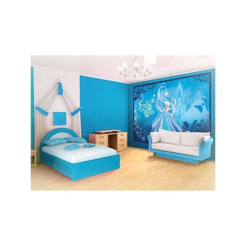 fresque murale elsa reine des neiges bleu pour d co murale chambre. Black Bedroom Furniture Sets. Home Design Ideas