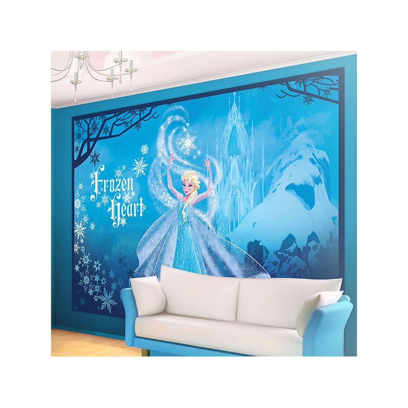 Fresque murale elsa reine des neiges bleu pour d co murale chambre - Frise reine des neiges ...