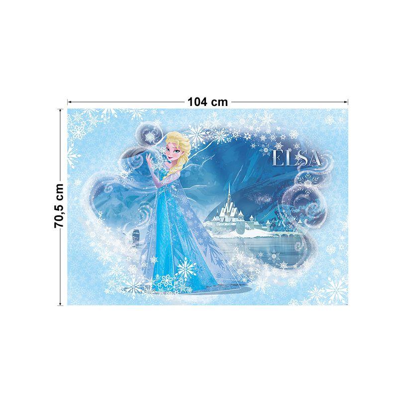 Papier peint fille disney reine des neiges pour chambre d co - Frise reine des neiges ...