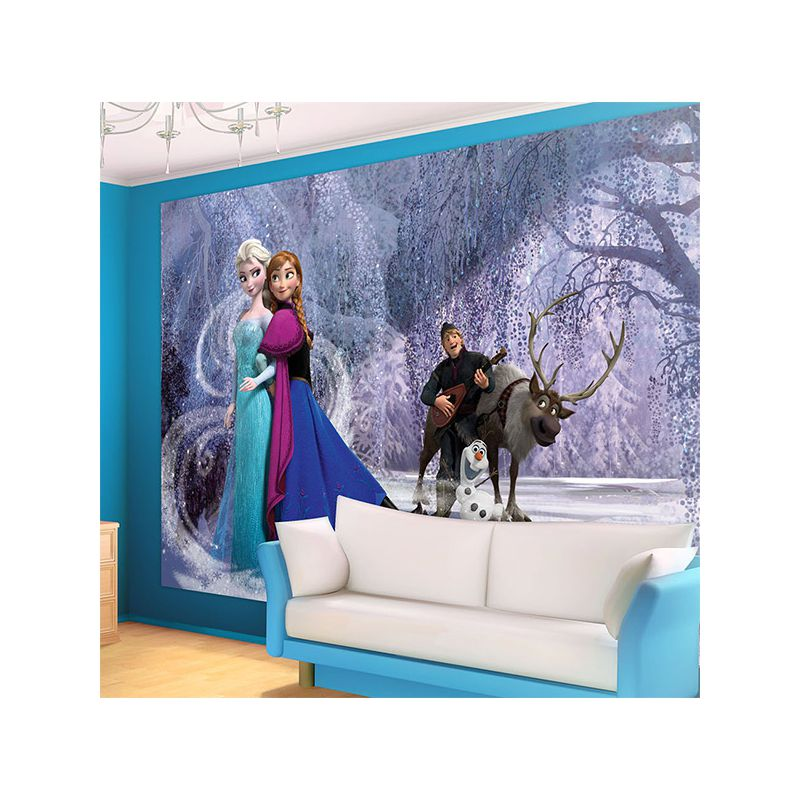 d cor mural reine des neiges pour chambre fille anna et elsa. Black Bedroom Furniture Sets. Home Design Ideas