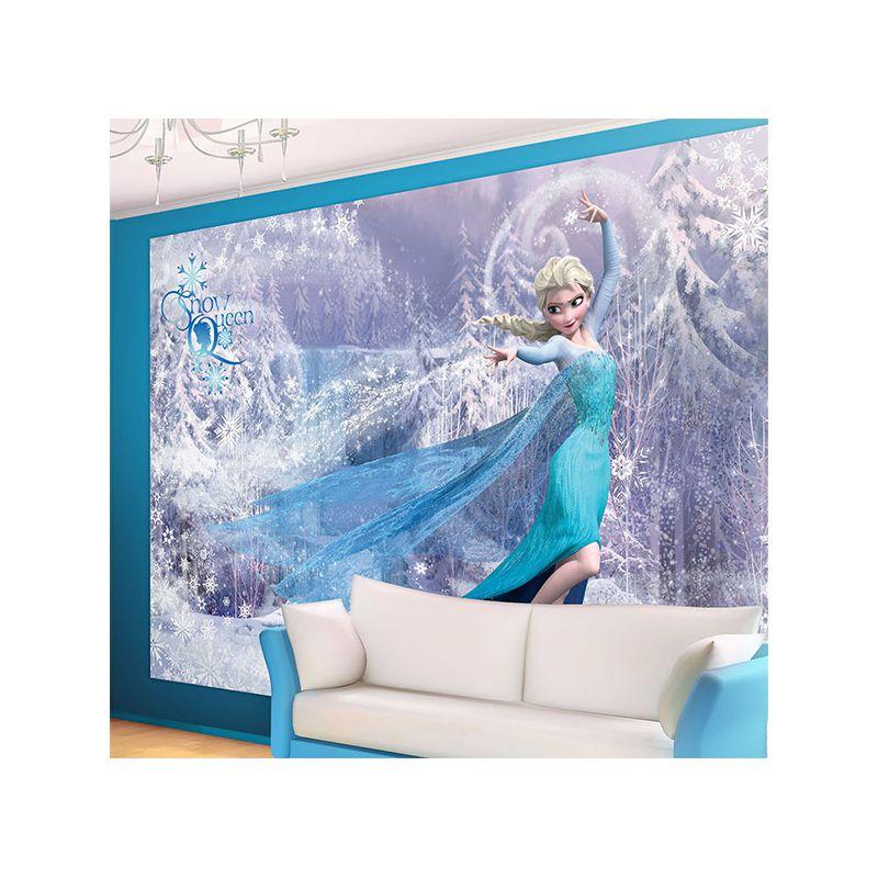 Grande fresque murale reine des neiges frozen pour mur - Frise reine des neiges ...