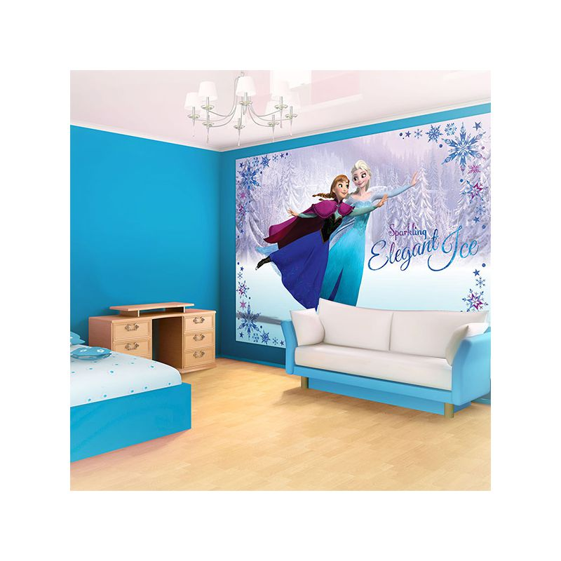papier peint elsa et anna reine des neiges disney. Black Bedroom Furniture Sets. Home Design Ideas